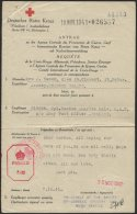 JERSEY 1941, Antrag Auf Nachrichtenvermittlung Des Deutschen Roten Kreuzes, Absender In St. Peter, Jersey, Pracht