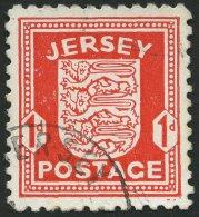 JERSEY 2z O, 1941, 1 P. Rot, Gestrichenes Papier, Pracht, Gepr. Möhle, Mi. 120.-