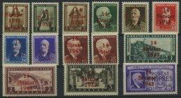 ALBANIEN 1-14 **, 1943, Freimarken, Prachtsatz, Mi. 420.-