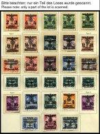 GENERALGOUVERNEMENT In Den Hauptnummern Komplette Sammlung Generalgouvernement Von 1940-44, Ohne Mi.Nr. 15, Prachterhalt