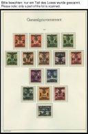 GENERALGOUVERNEMENT **, Komplette Postfrische Sammlung Generalgouvernement Auf Leuchtturm Falzlosseiten, Pracht