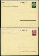 GENERALGOUVERNEMENT P 1/2II BRIEF, 1940, 12 Und 30 Gr. Ganzsachenkarten, E In Postkarte Endet Eng, Ungebraucht, Feinst,