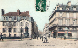 Cpa Caen 14 Calvados Place Alexandre Rue St Jean - Caen
