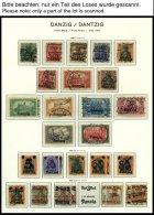 SAMMLUNGEN, LOTS *,o , Sammlung Danzig Von 1920-39 Mit Vielen Guten Mittleren Ausgaben Incl. Dienst- Und Portomarken Im