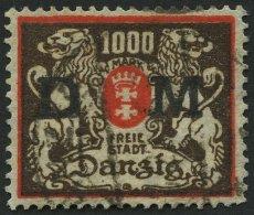 DIENSTMARKEN D 40 O, 1923, 1000 M. Rot/schwarzbraun, Pracht, Gepr. Dr. Oechsner Und Infla, Mi. 120.-