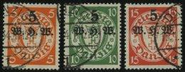 FREIE STADT DANZIG 237-39 O, 1934, Winterhilfswerk, Prachtsatz, Mi. 130.-