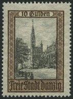 FREIE STADT DANZIG 211 **, 1924, 10 G. Ansichten, Pracht, Gepr. Dr. Oechsner, Mi. 140.-