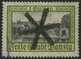 FREIE STADT DANZIG 207 O, 1924, 1 G. Ansichten, Zentrischer Korkstempel, Pracht, Mi. 55.-