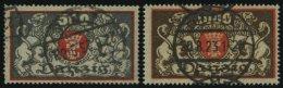 FREIE STADT DANZIG 120/1 O, 1923, 500 Und 1000 M. Freimarken, Feinst/Pracht, Gepr. Infla, Mi. 66.-
