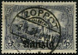 FREIE STADT DANZIG 13a O, 1920, 3 M. Violettschwarz, Pracht, Gepr. Dr. Oechsner Und Infla, Mi. 130.-