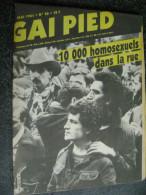 VINTAGE GAY MAGAZINE GAI PIED HEBDO REVUE - Erotik (...-1960)
