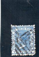 NEW SOUTH WALES 1862 O PETITE MINCE