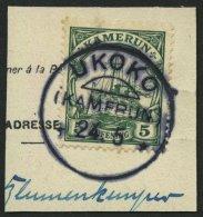 KAMERUN 21 BrfStk, UKOKO, 24.5., Ohne Jahreszahl, Postkartenabschnitt Mit 5 Pf. Grün, Mit Wz., Pracht