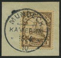 KAMERUN 7 BrfStk, MUNDECK. 15.4.10, Auf 3 Pf. Braun, Ohne Wz., Prachtbriefstück
