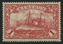 KAMERUN 24IIB **, 1919, 1 M. Dunkelkarminrot, Mit Wz., Kriegsdruck, Gezähnt B, Postfrsich, Pracht, Mi. 55.-