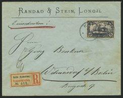KAMERUN 18 BRIEF, 1904, 3 M. Violettschwarz Auf überfrankiertem Einschreibbrief Von KRIBI Nach Wilmersdorf, Pracht,