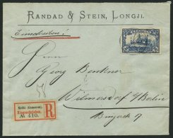 KAMERUN 17 BRIEF, 1904, 2 M. Schwärzlichblau Auf überfrankiertem Einschreibbrief Von KRIBI Nach Wilmersdorf, P