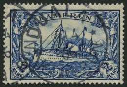 KAMERUN 17 O, 1900, 2 M. Schwärzlichblau, Ohne Wz., Pracht, Mi. 90.-