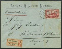 KAMERUN 16 BRIEF, 1904, 1 M. Rot, Ohne Wz., Auf überfrankiertem Einschreibbrief Von KRIBI Nach Wilmersdorf, Pracht