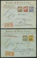 KAMERUN 7-15 BRIEF, 1904,3 - 80 Pf. Kaiseryacht, Ohne Wz., Auf 6 Einschreibbriefen Von KRIBI Nach Wilmersdorf, Pracht