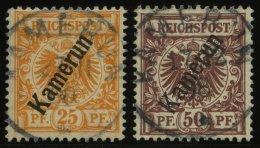 KAMERUN 5a,6 O, 1897, 25 Pf. Gelblichorange Und 50 Pf. Lebhaftrötlichbraun, 2 Prachtwerte, Mi. 82.-