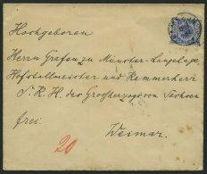 KAMERUN V 48 D BRIEF, 1892, 20 Pf. Violettultramarin Auf Minimal Fleckigem Brief Von KAMERUN An Den Kammerherrn Der Gro&