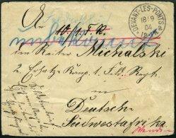 DSWA 18.9.04, Feldpostbrief Aus Devant-les-Ponts An Reiter Michalski, Zuerst In Gebion, Dann Nach Grootfontein Und Windh