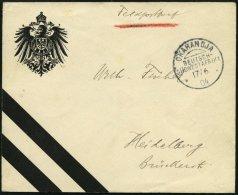 DSWA OKAHANDJA, 17.6.04, Patriotischer Feldpostbrief Von Der II. Kompanie Nach Heidelberg, Pracht