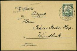 DSWA 25 BRIEF, 21.5.1914, 5 Pf. Grün Auf Karte Mit Stempel KARIBIB Und Nebenstempel Erste Flugpost Deutsch * S&uuml