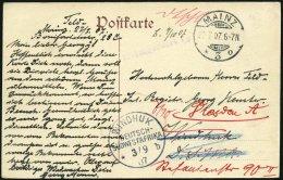 DSWA WINDHOEK B, 27.7.07, Als Ankunftstempel Auf Ansichtskarte Mit Violettem L2 Heimgereist Nach Dresden, Pracht