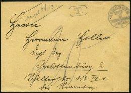 DSWA REHOBOTH, 28.12.12, Auf Austaxiertem, Unfrankierten Brief Nach Charlottenburg, Pracht