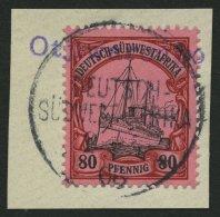DSWA 19 BrfStk, OTJIWARONGO, Violetter Wd-Stempel (Schreibmaschinenschrift) Ideal Auf 80 Pf., Prachtbriefstück