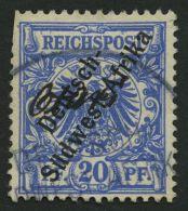DSWA 4 O, OTAVI, Handschriftlicher Wd-Stempel Auf 20 Pf. Violettultramarin, Feinst (oben Links Scherentrennung)