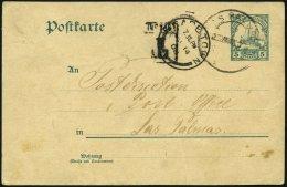 DSWA P 14 BRIEF, 1908, 5 Pf. Grün Von Passagier An Bord Der Prinzregent Nach Las Palmas, Dort Entwertet Und Weiter