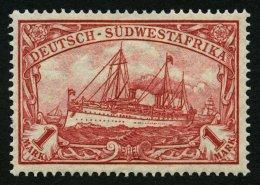 DSWA 29B *, 1919, 1 M. Rotkarmin, Mit Wz., Gezähnt B, Falzrest, Pracht, Mi. 50.-
