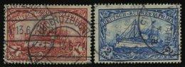 DSWA 29/30A O, 1912, 1 M. Karminrot Und 2 M. Blau, Mit Wz., Gezähnt A, 2 Prachtwerte, Mi. 190.-