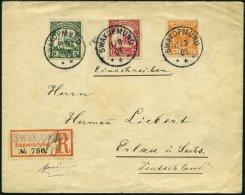 DSWA M 49b,12/3 BRIEF, 1901, Mitläufer: 25 Pf. Gelblichorange In Mischfrankatur Mit 5 Und 10 Pf. Schiffstype Auf Po