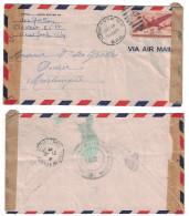 USA - 1940 LETTRE Pour LA MARTINIQUE FORT DE FRANCE Avec CENSURE MILITAIRE + VIA AIR MAIL