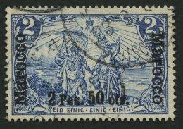 DP IN MAROKKO 17II/I O, 1903, 2 P. 50 C. Auf 2 M. Fetter Aufdruck, Type I, Pracht, Signiert, Mi. 140.-