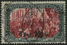 DP IN MAROKKO 19I/I O, 1900, 6 P. 25 C. Auf 5 M., Type I, Stempel MARRAKESCH, Pracht, R!, Fotoattest Jäschke-L., Mi