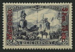 DP IN MAROKKO 18I/I *, 1900, 3 P. 75 C. Auf 3 M., Type I, Falzrest, Pracht, Mi. 60.-
