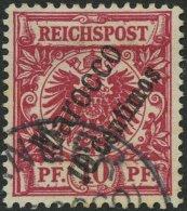 DP IN MAROKKO 3c O, 1899, 10 C. Auf 10 Pf. Rotkarmin, Pracht, Gepr. Jäschke-L., Mi. 260.-