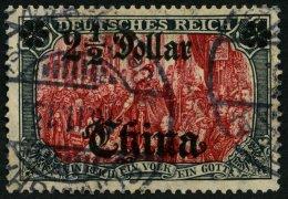 DP CHINA 47IAIa O, 1906, 21/2 D. Auf 5 M., Mit Wz., Friedensdruck, Abstand 9.5 Mm, Pracht, Gepr. Jäschke-L., Mi. 19