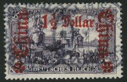 DP CHINA 36B O, 1905, 11/2 D. Auf 3 M., Ohne Wz., Gezähnt B, Pracht, Mi. 60.-