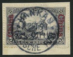 DP CHINA 26I BrfStk, 1901, 3 M. Reichspost, Type I, Zentrischer Stempel HANKAU, Prachtbriefstück