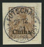 DP CHINA 15b BrfStk, 1902, 3 Pf. Dunkelorangebraun, Zentrischer Stempel FUTSCHAU, Kabinettbriefstück