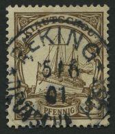 DP CHINA P VIa O, Petschili: 1901, 3 Pf. Kiautschou, Zentrischer Stempel PEKING, Punkthelle Stelle Sonst Pracht, Mi. 350