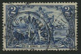 DP CHINA P Vk/I O, Petschili: 1900, 2 M. Reichspost, Type I, Stempel FELD-POSTSTATION, Pracht, Signiert, Mi. 850.-