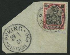 DP CHINA P Vf BRIEF, Petschili: 1900, 40 Pf. Reichspost, Stempel PEKING, Großes Prachtbriefstück, Signiert