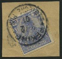 DP CHINA P Vd BrfStk, Petschili: 1900, 20 Pf. Reichspost, Stempel PEKING, Feinst (ein Paar Stumpfer Zähne), Mi. 140